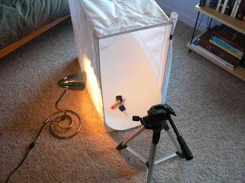 узнал самодельный осветитель для фотосъемки просто